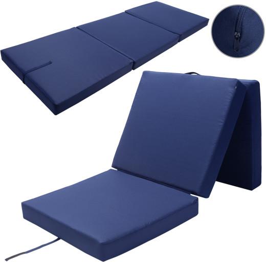 Detex Matratze Blau 190x70x10cm faltbar